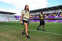 Orlando, FL - Saturday October 14, 2017: North Carolina Courage during the NWSL Championship match between the North Carolina Courage and the Portland Thorns FC at Orlando City Stadium.