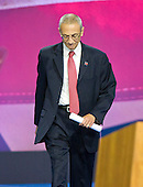 John Pedesta, Chairman of Hillary for America, walks to the podium to announce there are more votes to be counted and there will be no announcements from the campaign until the morning at the Jacob K. Javits Convention Center in New York, New York on <br /> Wednesday, November 9, 2016.<br /> Credit: Ron Sachs / CNP<br /> <br /> (RESTRICTION: NO New York or New Jersey Newspapers or newspapers within a 75 mile radius of New York City)