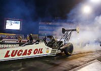 Sep 2, 2016; Clermont, IN, USA; NHRA top fuel driver Richie Crampton during qualifying for the US Nationals at Lucas Oil Raceway. Mandatory Credit: Mark J. Rebilas-USA TODAY Sports