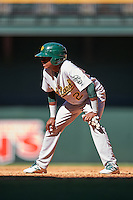 Oakland Athletics Marcos Brito (2) during an Instructional League game against the Arizona Diamondbacks on October 15, 2016 at Chase Field in Phoenix, Arizona.  (Mike Janes/Four Seam Images)