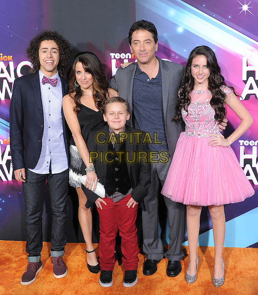 Scott Baio and the cast of See Dad Run.at the TeenNick HALO Awards held at The Palladium in Hollywood, .California, USA, .November 17th 2012..full length pink dress grey gray suit jacket                                                                          .CAP/DVS.©DebbieVanStory/Capital Pictures.