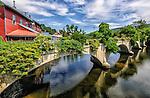 "The ""bridge of flowers,"" located on the Deerfield River in Shelburne Falls, Massachusetts"