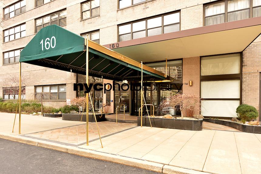 Entrance to 160 West End Avenue