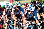 The peloton including Romain Bardet (FRA) AG2R in action during Stage 16 of the 104th edition of the Tour de France 2017, running 165km from Le Puy-en-Velay to Romans-sur-Isere, France. 18th July 2017.<br /> Picture: ASO/Alex Broadway | Cyclefile<br /> <br /> <br /> All photos usage must carry mandatory copyright credit (&copy; Cyclefile | ASO/Alex Broadway)