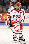 Brian McGuirk (BU - 28) - The Boston University Terriers defeated the University of Maine Black Bears 1-0 (OT) on Saturday, February 16, 2008 at Agganis Arena in Boston, Massachusetts.