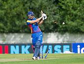 ICC World T20 Qualifier (Warm up match) - Scotland V Namibia at Grange CC, Edinburgh - the end, for 4, of Namibia bat Johanns Smit, bowled Sharif — credit @ICC/Donald MacLeod - 06.7.15 - 07702 319 738 -clanmacleod@btinternet.com - www.donald-macleod.com