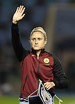 Steph Houghton of Manchester City Women before the Champions League last 16 tie, first leg between Manchester City Women and Brondby IF at the Academy Stadium. <br /> <br /> Photo credit should read: Lynne Cameron/Sportimage