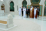 Egyptian President, Abdel Fattah al-Sisi visits a mosque and tomb of the late Sheikh Zayed Al Nahyan, in Abu Dhabi, UAE, 18 January 2015. According to reports the Egyptian President began a two-day visit to the United Arab Emirates (UAE) 17 January during which he will have talks with top UAE officials and attend the World Future Energy Summit in Abu Dhabi in a reflection of the strong diplomatic and financial support the oil-rich gulf country has offered al-Sisi over the period of his rule in Egypt. APAIMAGES/OFFICE OF EGYPTIAN PRESIDENCY