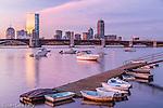 Sunrise on the Charles River, Boston, Massachusetts, USA