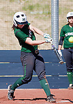 April 20, 2012:    University of Hawai'i Warrior Sarah Robinson blasts a homer in the third inning against the Nevada Wolf Pack during their NCAA softball game played at Christina M. Hixson Softball Park on Friday in Reno, Nevada.