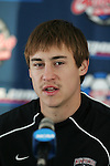 10 December 2005: Matt Wootton. The University of New Mexico Lobos held a press conference the day before playing in the NCAA Men's College Cup, the Division I Championship soccer game, at SAS Stadium in Cary, NC..