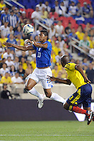 Carlo Costly (13) of Honduras. The men's national teams of Colombia (COL) defeated Honduras (HON) 2-0 during an international friendly at Red Bull Arena in Harrison, NJ, on September 03, 2011.
