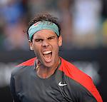 Rafael Nadal (ESP) defeats Grigor Dimitrov (BUL) 3-6, 7-6, 7-6, 6-2