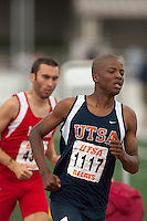 SAN ANTONIO, TX - MARCH 18, 2006: UTSA Relays Track & Field Meet - Day 2 at Jerry Comalander Stadium. (Photo by Jeff Huehn)