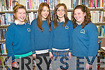 Pictured at the Kerry Education Service creative writing workshop held in the Killarney Library on Monday were Jackie Clifford, Casey Donnelly, Katie Sugrue and Caoimhe O'Sullivan, Colaiste na Sceilige, Caherciveen.