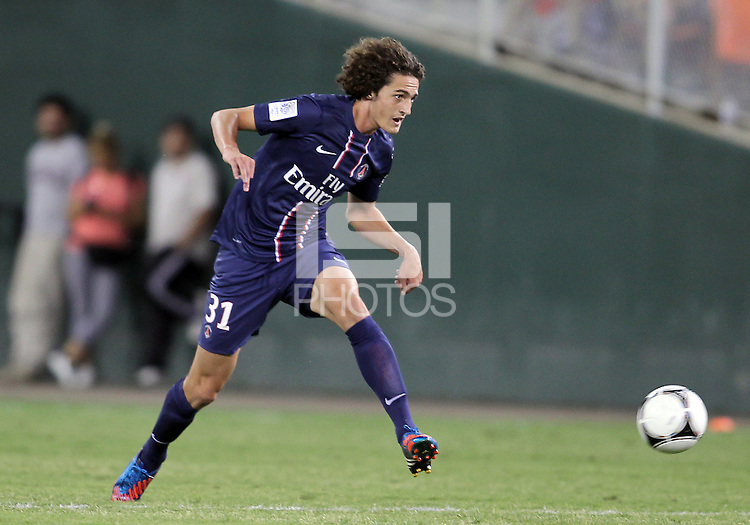 WASHINGTON, DC - July 28, 2012:  Adrien Rabiot (31) of PSG (Paris Saint-Germain) in an international friendly match against DC United at RFK Stadium in Washington DC on July 28. The game ended in a 1-1 tie.