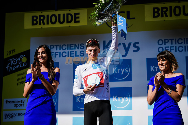 Giulio Ciccone (ITA) Trek-Segafredo retains the young riders White Jersey at the end of Stage 9 of the 2019 Tour de France running 170.5km from Saint-Etienne to Brioude, France. 14th July 2019.<br /> Picture: ASO/Pauline Ballet | Cyclefile<br /> All photos usage must carry mandatory copyright credit (© Cyclefile | ASO/Pauline Ballet)