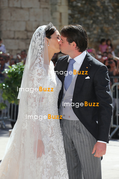 Princess Claire Of Luxembourg and Prince Felix Of Luxembourg during their wedding ceremony at the Basilique Sainte Marie-Madeleine on September 21, 2013 in Saint-Maximin-La-Sainte-Baume, France.