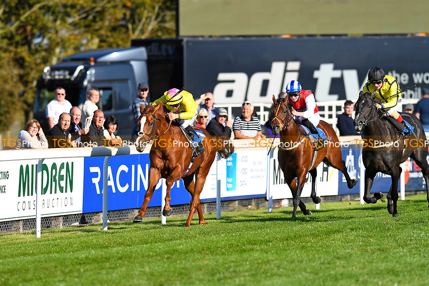 Winner of The Myddelton & Major Conditions Stakes   Naughty Rascal ridden by Tom Marquand and trained by Richard Hannon  during Afternoon Racing at Salisbury Racecourse on 3rd October 2018