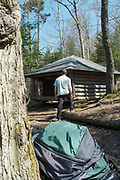 "Appalachian Trail - Hexacuba Shelter is a six-sided hexagonal shelter on the south side of Mt. Cube at 1980 feet just off the Kodak Trail/ (AT) in New Hampshire USA. It has 2 open sides and a large center post that supports the roof plus has a 5 sided privy called ""Penta Privy"", ..Notes:  This shelter is known by two names Hexacuba and Hexacube shelter. Located just off the Appalachian Trail ."