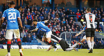 02.02.2019: Rangers v St Mirren: Daniel Candeias fouled on the edge of the box but continues inside the box for the fourth penalty