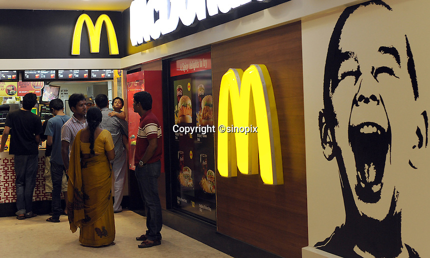 MACDONALD fast food restaurant in Madras, India