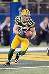 Green Bay Packers wide receiver Jordy Nelson (87) returns a kick during Super Bowl XLV against the Pittsburgh Steelers on Sunday, February 6, 2011, in Arlington, Texas. The Packers won 31-25. (AP Photo/David Stluka)