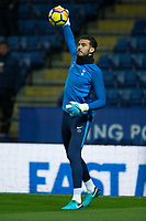 Paulo Gazzaniga of Tottenham during the Premier League match between Leicester City and Tottenham Hotspur at the King Power Stadium, Leicester, England on 28 November 2017. Photo by James Williamson / PRiME Media Images.