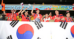 Lee Woon-Jae,<br /> JUNE 17, 2014 - Football / Soccer :<br /> (L-R) Kim Min-Jong, Kim Je-Dong, Kim Su-Ro, Lee Kyung-Kyu, Lee Woon-Jae and Kang Boo-Ja cheer before the FIFA World Cup Brazil 2014 Group H match between Russia 1-1 South Korea at Arena Pantanal in Cuiaba, Brazil. (Photo by SONG Seak-In/AFLO)