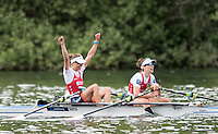 Lucerne, SWITZERLAND<br /> <br /> NED LW2X, Bow. Lise PAULIS and Maaike HEAD. 2016 European Olympic Qualifying Regatta, Lake Rotsee.<br /> <br /> Tuesday  24/05/2016<br /> <br /> [Mandatory Credit; Peter SPURRIER/Intersport-images]