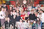 CROWD: A large crowd gathered at the 21st Birthday party for Aoife Gorham, Pembroke Court, Tralee (seated centre) at Kirbys Brogue Inn, Tralee, on Saturday night..
