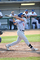 Brett Siddal (24) of the Stockton Ports bats against the Rancho Cucamonga Quakes at Loan Mart Field on July 16, 2017 in Rancho Cucamonga, California. Rancho Cucamonga defeated Stockton 9-1. (Larry Goren/Four Seam Images)