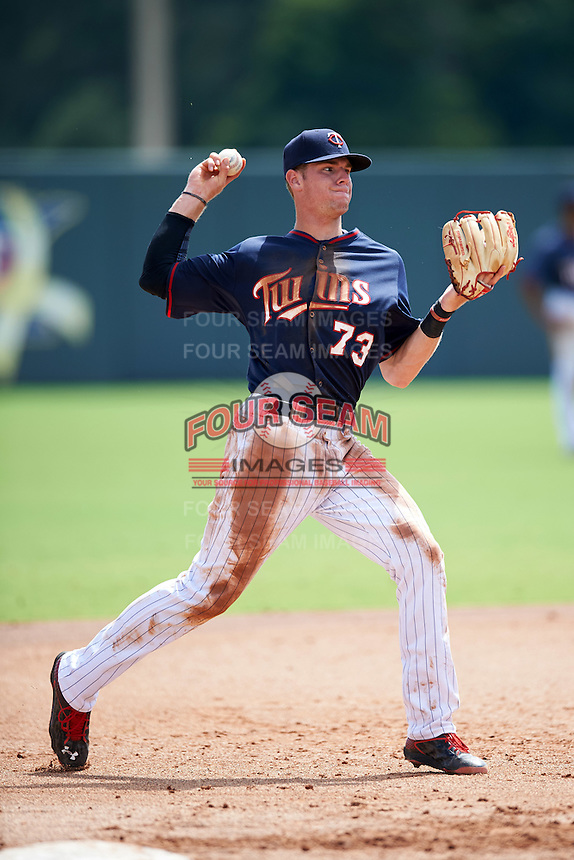 Minnesota Twins third baseman Trey Cabbage (73) during an Instructional League game against the Boston Red Sox on September 24, 2016 at CenturyLink Sports Complex in Fort Myers, Florida.  (Mike Janes/Four Seam Images)