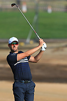 Alexander Bjork (SWE) on the 3rd during Round 4 of the Omega Dubai Desert Classic, Emirates Golf Club, Dubai,  United Arab Emirates. 27/01/2019<br /> Picture: Golffile | Thos Caffrey<br /> <br /> <br /> All photo usage must carry mandatory copyright credit (&copy; Golffile | Thos Caffrey)