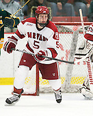 Dan Ford (Harvard - 5) - The Harvard University Crimson defeated the visiting Clarkson University Golden Knights 3-2 on Harvard's senior night on Saturday, February 25, 2012, at Bright Hockey Center in Cambridge, Massachusetts.