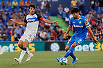Leandro Cabrera of Getafe CF and Manu Garcia of Deportivo Alaves during La Liga match between Getafe CF and Deportivo Alaves at Colisseum Alfonso Perez in Getafe, Spain. August 31, 2019. (ALTERPHOTOS/A. Perez Meca)