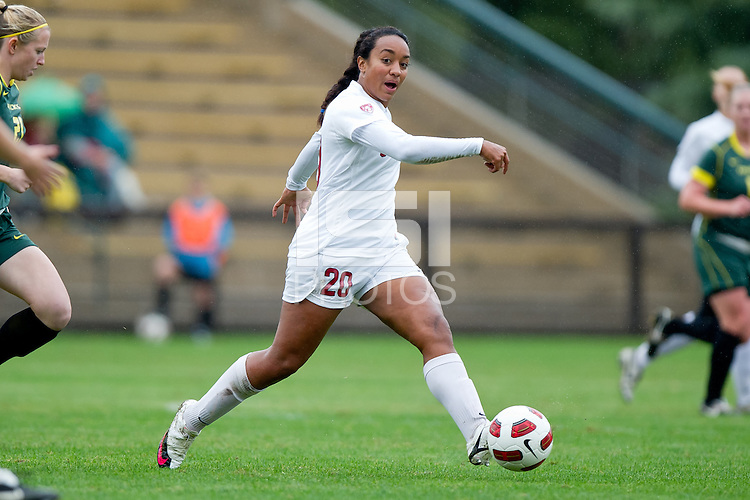 STANFORD, CA - November 7, 2010: Mariah Nogueira during a soccer match against Oregon in Stanford, California.  Stanford won 3-0.