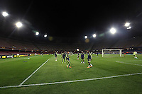 Wednesday 26 February 2014<br /> Pictured: Swansea players training<br /> Re: Swansea City FC press conference and training at San Paolo in Naples Italy for their UEFA Europa League game against Napoli.