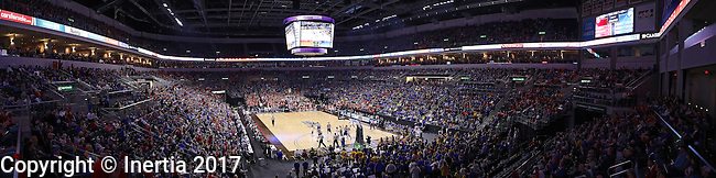 SIOUX FALLS, SD: MARCH 6: A record crowd  of 11,235 attends the South Dakota State vs University of South Dakota mens semifinal game during the Summit League Basketball Championship on March 6, 2017 at the Denny Sanford Premier Center in Sioux Falls, SD. (Photo by Dick Carlson/Inertia)