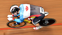 CALI – COLOMBIA – 19-02-2017: Stefan Ritter de Canada en la prueba de clasificación del Kilometro hombres en el Velodromo Alcides Nieto Patiño, sede de la III Valida de la Copa Mundo UCI de Pista de Cali 2017. / Stefan Ritter de Canada in Men's Kilometer Classification Race at the Alcides Nieto Patiño Velodrome, home of the III Valid of the World Cup UCI de Cali Track 2017. Photo: VizzorImage / Luis Ramirez / Staff.