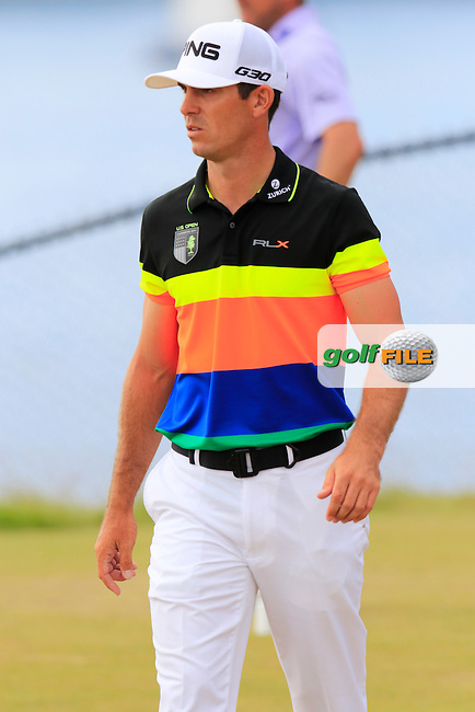 Billy HORSCHEL (USA) walks off the 16th tee during Thursday's Round 1 of the 2015 U.S. Open 115th National Championship held at Chambers Bay, Seattle, Washington, USA. 6/19/2015.<br /> Picture: Golffile | Eoin Clarke<br /> <br /> <br /> <br /> <br /> All photo usage must carry mandatory copyright credit (&copy; Golffile | Eoin Clarke)
