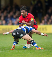 Worcester Warriors' Joseph Taufete'e in action during todays match<br /> <br /> Photographer Bob Bradford/CameraSport<br /> <br /> Aviva Premiership - Bath Rugby v Worcester Warriors - Saturday 7th October 2017 - The Recreation Ground - Bath<br /> <br /> World Copyright &copy; 2017 CameraSport. All rights reserved. 43 Linden Ave. Countesthorpe. Leicester. England. LE8 5PG - Tel: +44 (0) 116 277 4147 - admin@camerasport.com - www.camerasport.com