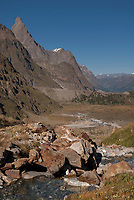 The Tour du Mont Blanc TMB trail passes into Italy.