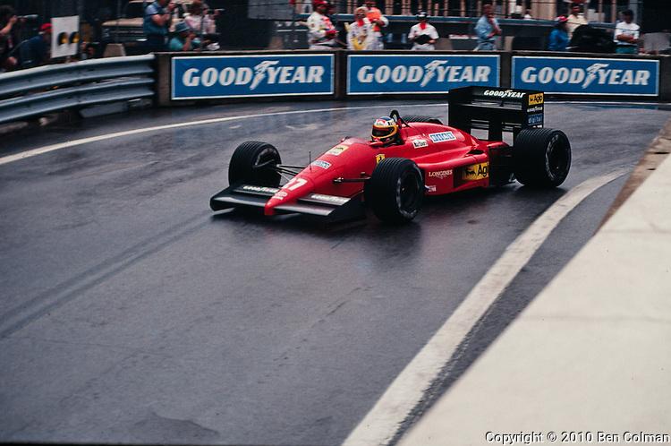 Michele Alboreto, Ferrari F1-87, Detroit 1987