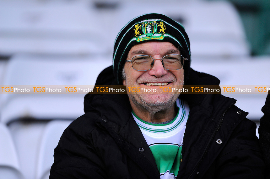 A Yeovil Town supporter before kick off - Yeovil Town vs Colchester United - Sky Bet League One Football at Huish Park, Yeovil - 20/12/14 - MANDATORY CREDIT: Denis Murphy/TGSPHOTO - Self billing applies where appropriate - contact@tgsphoto.co.uk - NO UNPAID USE