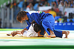 (T-B) Junko Hirose (JPN), Merenciano Herrero Maria Monica (ESP), <br /> SEPTEMBER 9, 2016 - Judo : <br /> Women's -57kg Contests for Bronze Medal <br /> at Carioca Arena 3<br /> during the Rio 2016 Paralympic Games in Rio de Janeiro, Brazil.<br /> (Photo by AFLO SPORT)