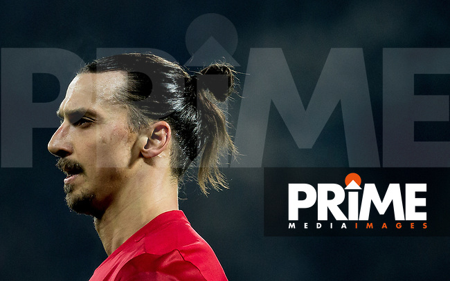 Zlatan Ibrahimovic of Manchester United during the EPL - Premier League match between West Bromwich Albion and Manchester United at The Hawthorns, West Bromwich, England on 17 December 2016. Photo by Andy Rowland / PRiME Media Images.