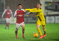 Fleetwood Town's Jason Holt vies for possession with Burton Albion Stephen Quinn<br /> <br /> Photographer Richard Martin-Roberts/CameraSport<br /> <br /> The EFL Sky Bet League One - Saturday 15th December 2018 - Fleetwood Town v Burton Albion - Highbury Stadium - Fleetwood<br /> <br /> World Copyright &not;&copy; 2018 CameraSport. All rights reserved. 43 Linden Ave. Countesthorpe. Leicester. England. LE8 5PG - Tel: +44 (0) 116 277 4147 - admin@camerasport.com - www.camerasport.com