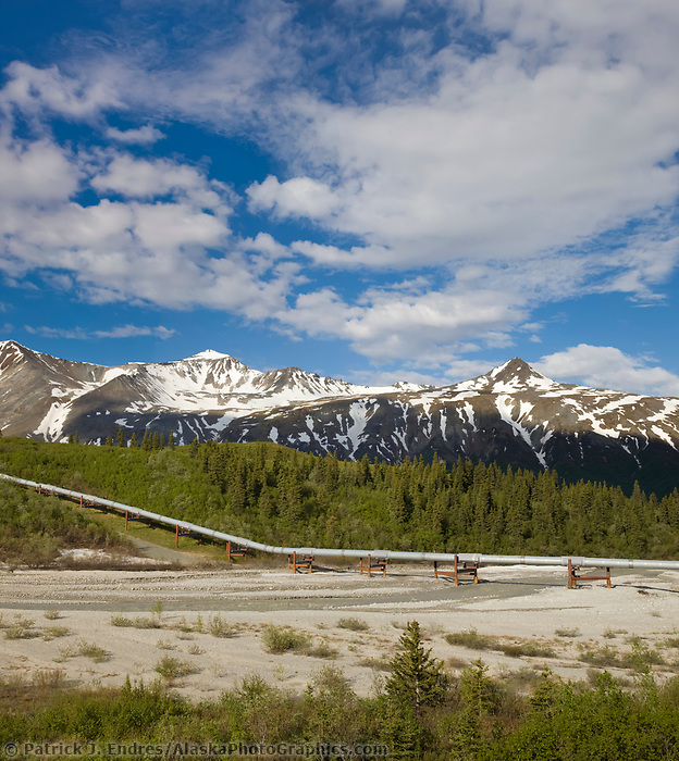 Little Miller creek drainage, trans Alaska oil pipeline, Alaska Range mountains, Interior, Alaska.