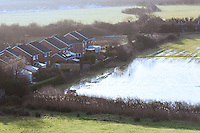 Flooding in Caerleon, Wales, Britain